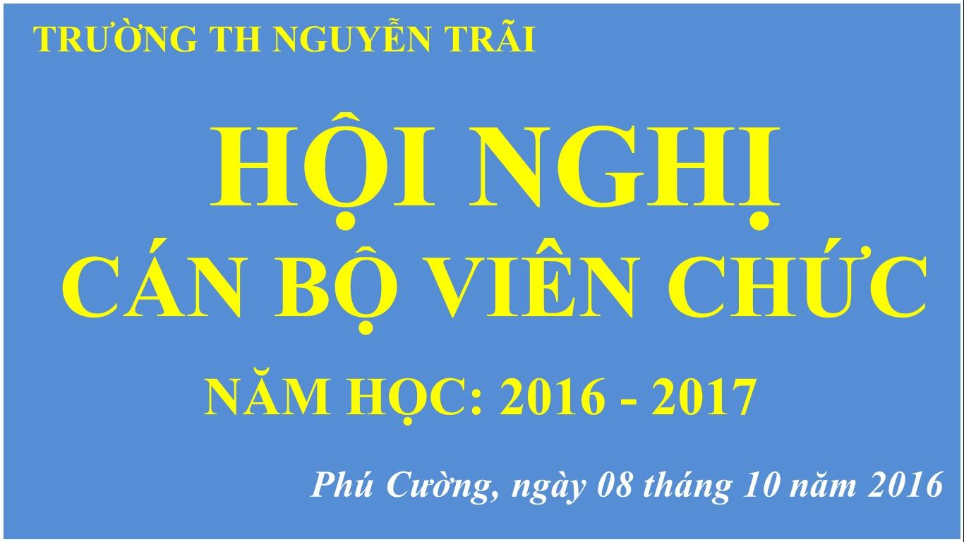 Hội nghị CBVC năm học 2016-2017