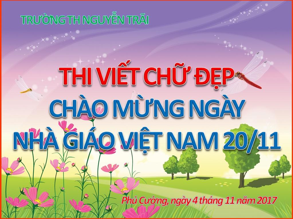 """Hội Thi """"Viết chữ đẹp"""" chào mừng ngày nhà giáo Việt Nam 20/11"""